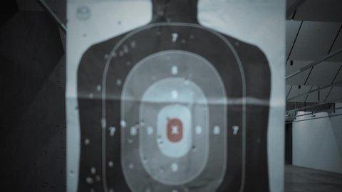 Gun Firing Range Typography - Basic Training