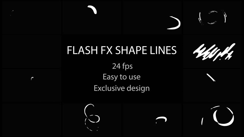 Flash FX Shape Lines. Hand drawn and frame by frame animated. Just drop elements to your project. Easy to customize with your favorite software. Alpha channel included. More elements in our portfolio | Shutterstock HD Video #1013473094