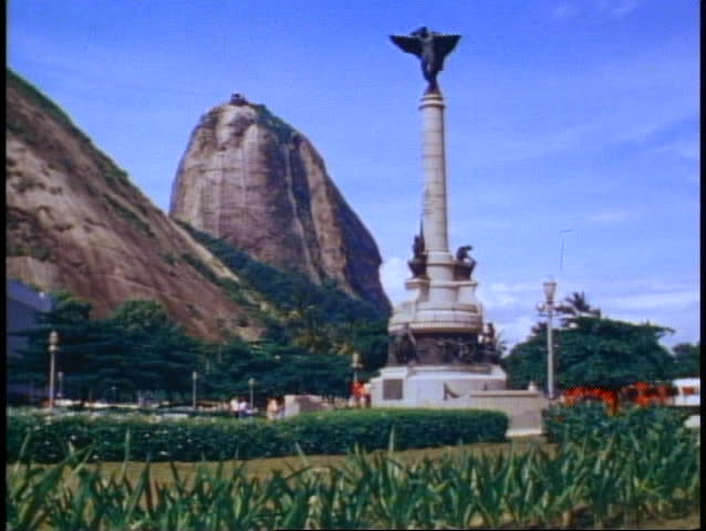 BRAZIL, 1982, Rio de Janeiro, Sugar Loaf Mountain, park and column in foreground | Shutterstock HD Video #1013490674