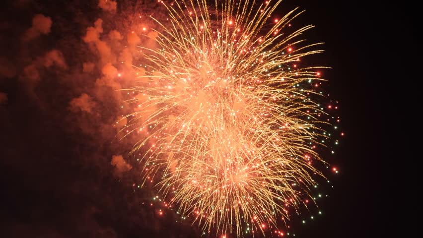 Holiday fireworks on dark background   Shutterstock HD Video #1013504684