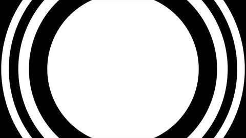 ultra HD 4k video of Concentric circles animation on a black background.Great for keying or masking and used as wipe transition as alpha channel