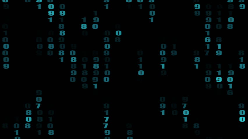 The flow of numbers down in the matrix against a dark background. 3d rendering. | Shutterstock HD Video #1013551604