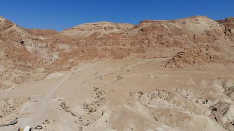 Qumran Caves where they discovered the Dead Sea Scrolls in Israel