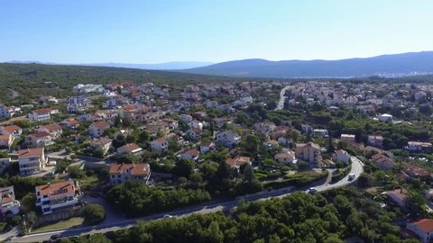 Croatia Krk drone shot