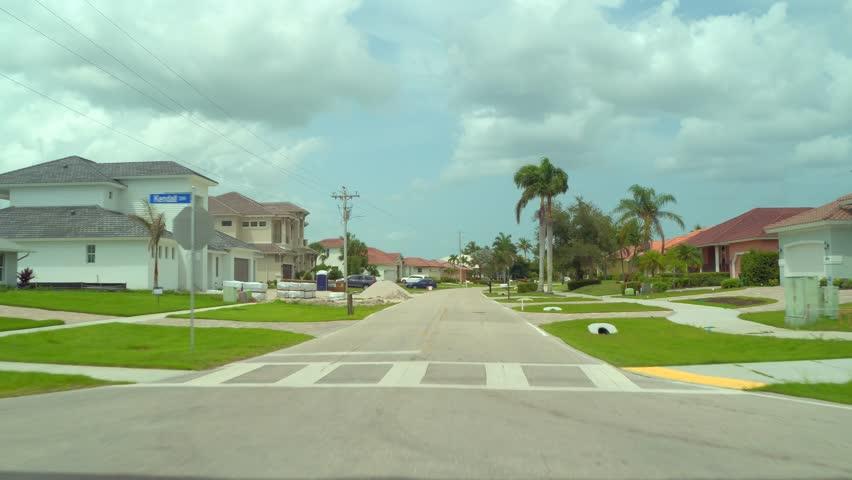 Residential neighborhood tour Marco Island Florida USA | Shutterstock HD Video #1013676884