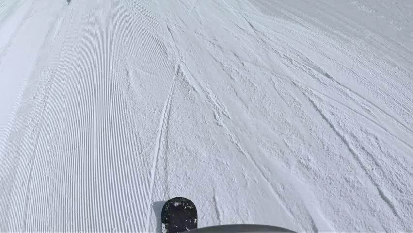 Slow Motion Pov Snowboarding in Livigno ,Italy Alps ,Jumps,Rails,powder