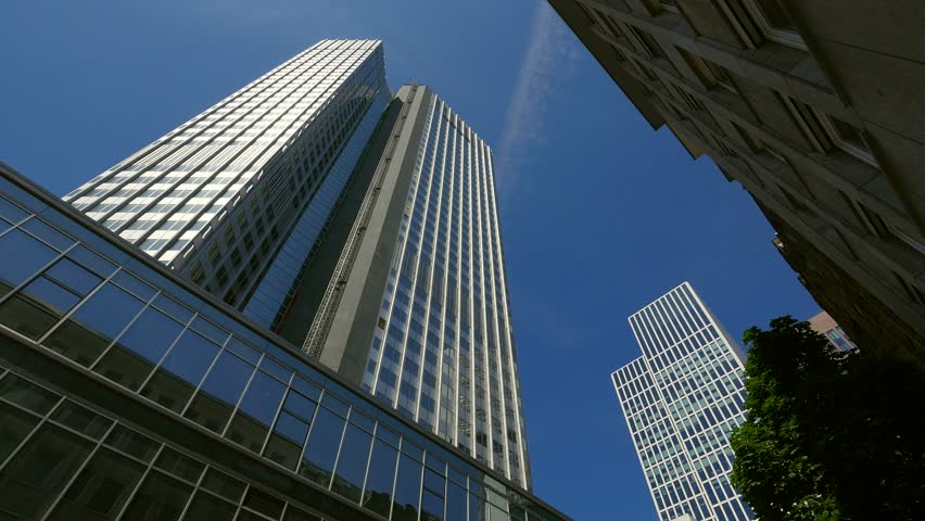 Financial District at Neue Mainzer Strasse, Frankfurt am Main, Hesse, Germany