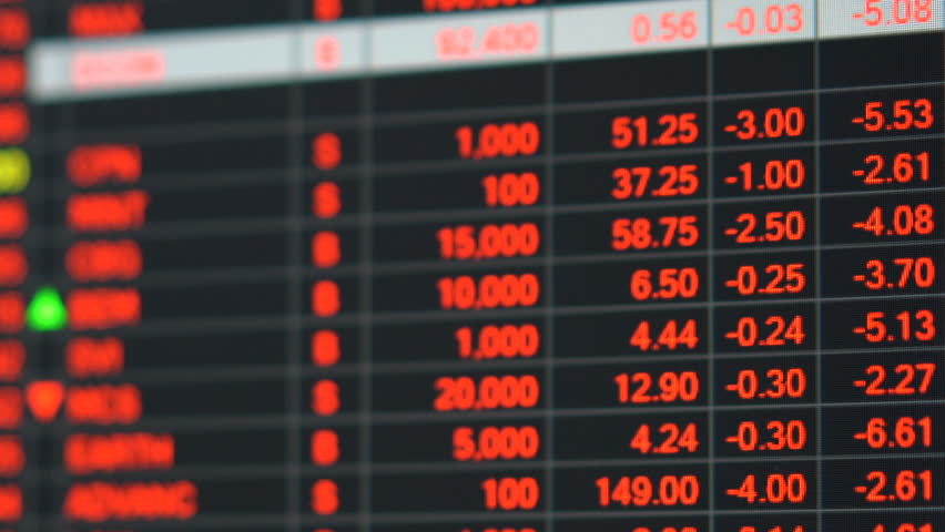 Economic crisis - Red stock market price board chart showing economic crisis of world stock. Bad economy and negative price down stock market situation. Traders are panic and selling their stock.   Shutterstock HD Video #1013835914