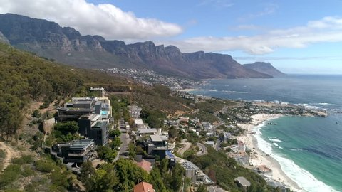 Cape Town Clifton Beach Aerial View