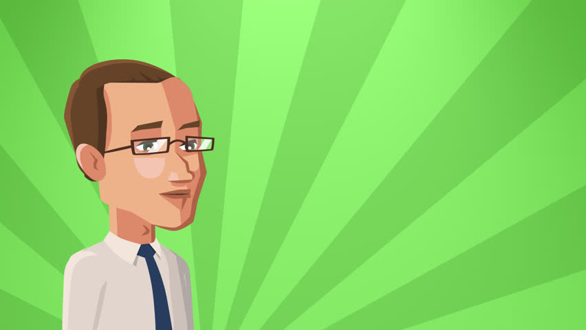 Cartoon Situation Tom Businessman. Man Character speaks by Mobile Phone, Smartphone with Speech Bubble with Animation | Shutterstock HD Video #1013874104