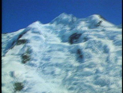 MOUNT COOK, NEW ZEALAND, 1985, Southern Alps, Cessna, ski plane, Tasman glacier