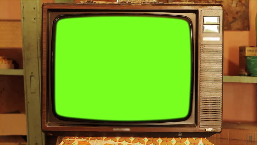 80s Television with Green Screen. Red Tone. | Shutterstock HD Video #1013886884