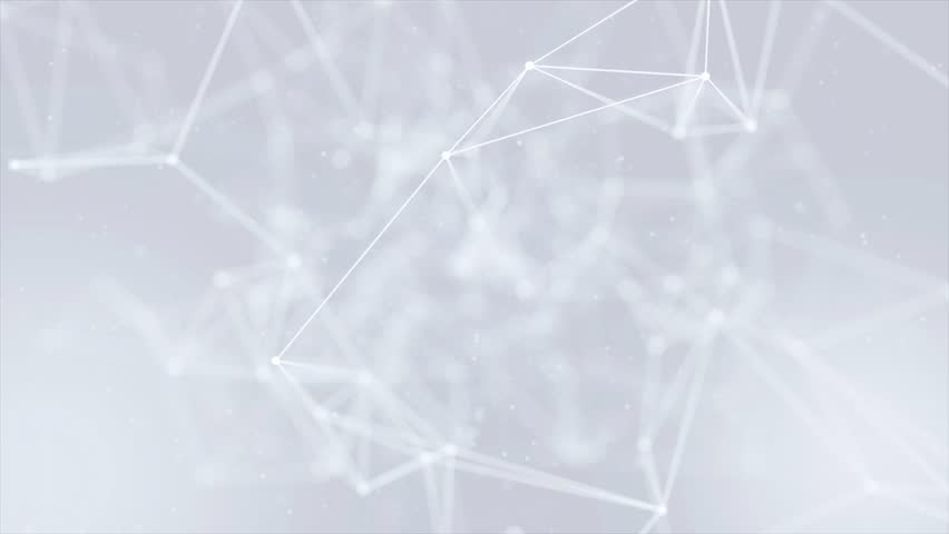 Clean White Abstract polygonal Digital Concept Geometrical Polygon Plexus Fractals Moving low poly Technologies Minimalist design element Seamless loop background for corporate business presentation | Shutterstock HD Video #1013908604
