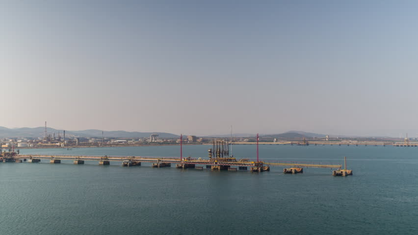 Entering the palermo industrial port and shipping harbour shot from a ferry in the early morning, sicily, italy | Shutterstock HD Video #1013910194