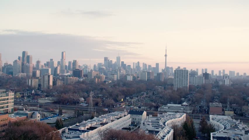 Toronto, Ontario / Canada - December 2017: Toronto Skyline in Winter | Shutterstock HD Video #1014149474