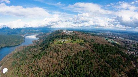 Burnaby Mountain Simon Fraser University Vancouver BC Aerial