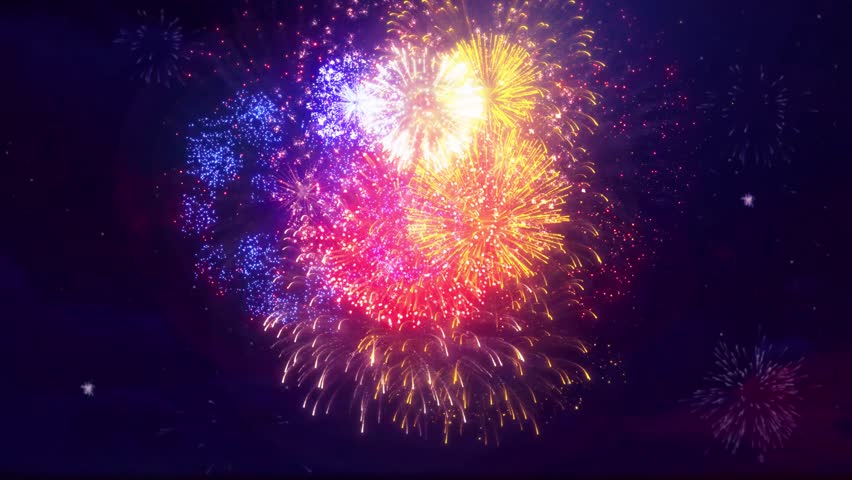 17. Multi color Multiple shape Explosion display sky night Seamless Loop Background for birthday, anniversary, celebration, Holiday, new year, Party, event and celebrations, Invitation | Shutterstock HD Video #1014203564