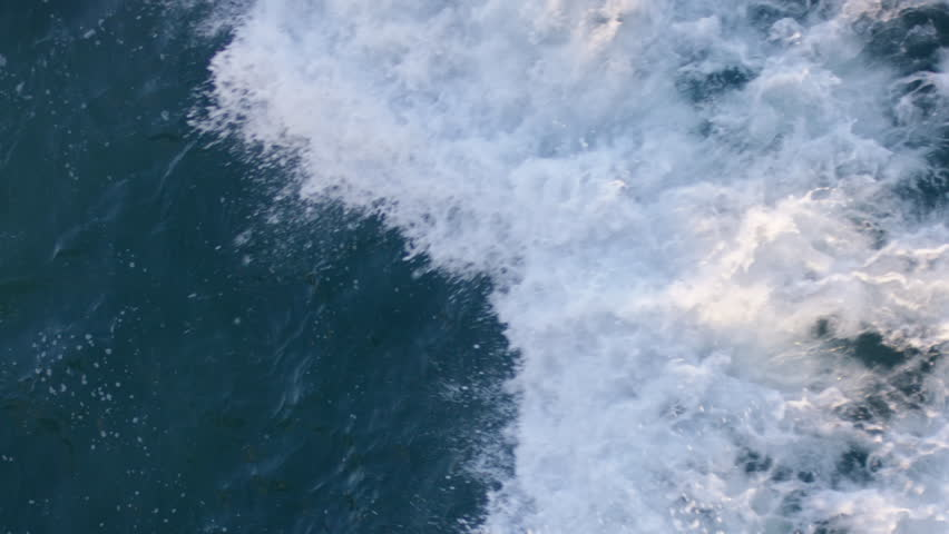 Aerial View Of Ocean, Wave Crashes In Beautiful Sunset Light | Shutterstock HD Video #1014210494