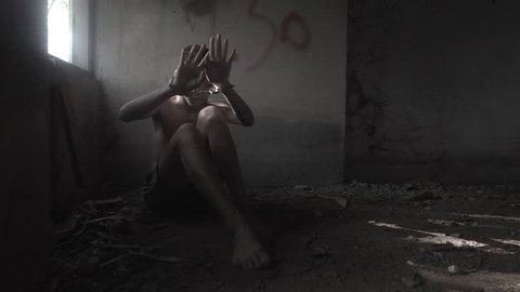 Child violence and abused concept. trafficking Concept, Stop violence against child and women.