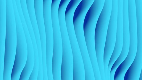 Colorful wave gradient loop animation. Future geometric patterns motion background. 3d rendering. 4k UHD