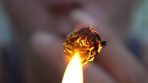 Macro and Slow Motion of a Burning Cannabis Joint