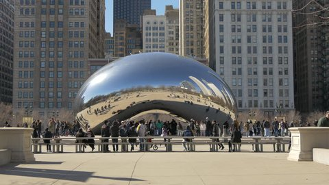 Chicago, United States - June, 2017: The Bean in Chicago