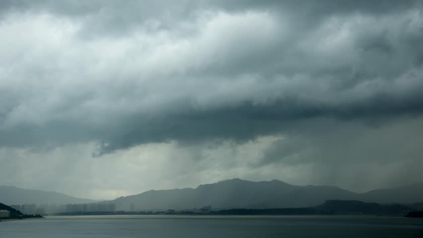 Storm with heavy rain over mountain - Timelapse | Shutterstock HD Video #1014442874
