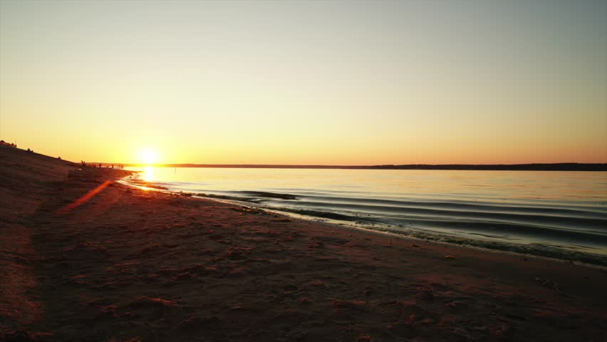 Sunset over the river   Shutterstock HD Video #1014468554