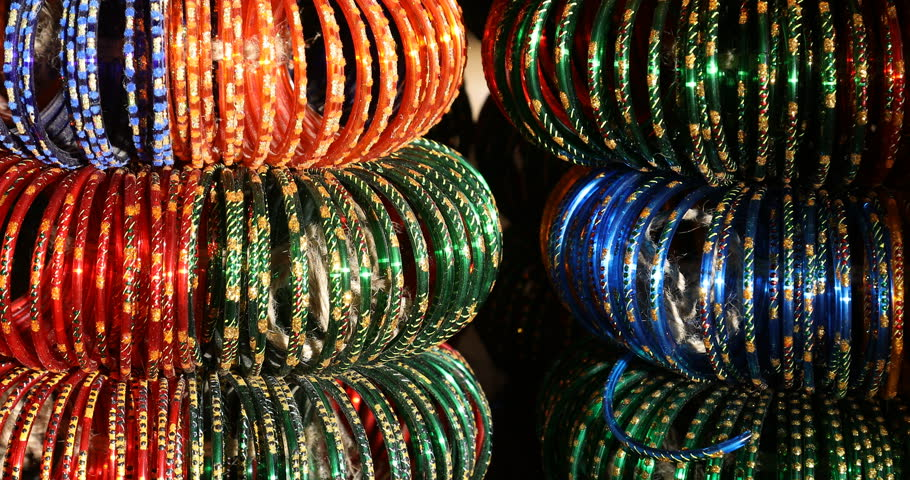 closeup of the color Bangles