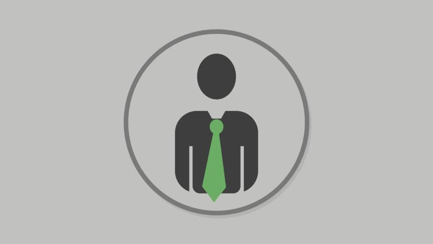 Corporate people icons animation with grey background.Blow Dryer icon animation with grey background.