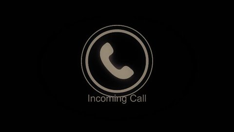 Phone ring icon animation. Incoming call. Animation Call Icon. Handmade scribble animation of a phone ringing. Animated Cell Phone Ringing