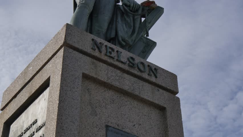 Lord Nelson statue in National Heroes Square, Bridgetown, St Michael, Barbados, West Indies, Caribbean