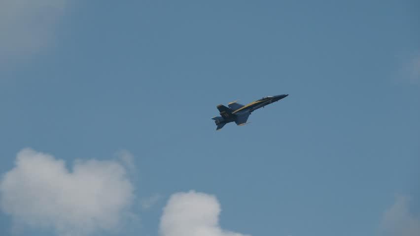 Blue Angel flight doing a barrel roll | Shutterstock HD Video #1014641414