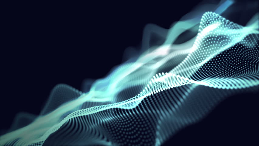 Digital wave background abstract title of particle blue color light through. | Shutterstock HD Video #1014681524