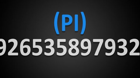 The number Pi moves through the frame