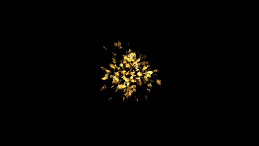 Golden popper explosions confetti on a black isolated background #1014715724