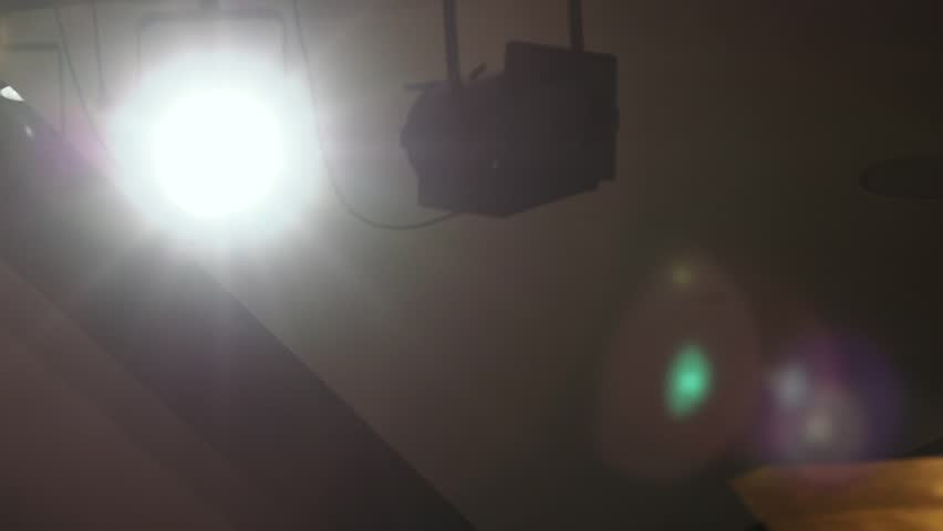 Stage Lighting. Stock. Flash light and Flare theme. Spectrum lights Concert Spot Bulb