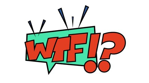 Wtf comic book speech bubbles onomatopeia expression letters