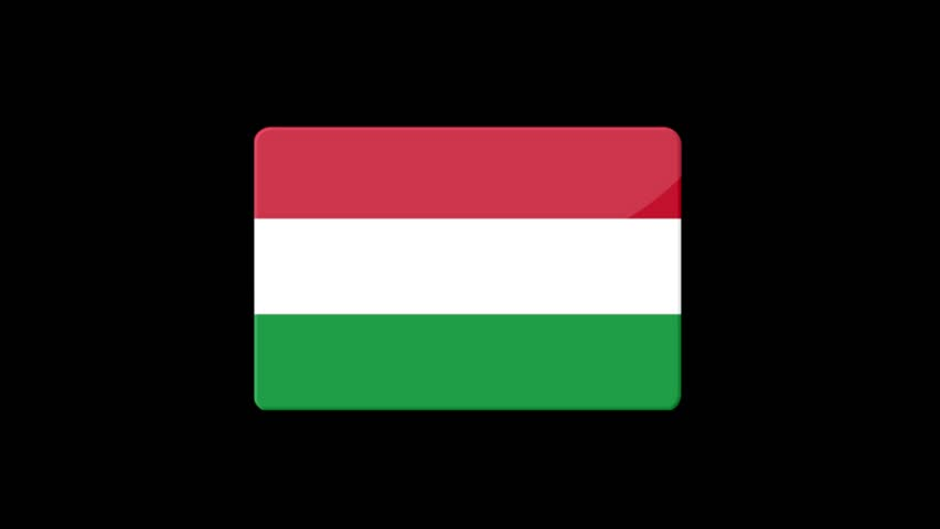 Flag of Hungary Beautiful 3d animation of DHungary flag in loop mode.Hungary flag animation