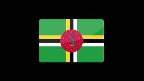 Flag of Dominica Beautiful 3d animation of Dominica flag in loop mode.Dominica flag animation