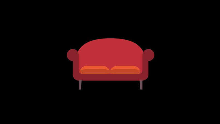 Amazing Furniture Icons Animation With Black Stock Footage Video 100 Royalty Free 1015038064 Shutterstock Machost Co Dining Chair Design Ideas Machostcouk