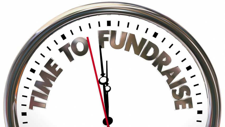 Time for Fund Raising Money for Charity Clock 3d Animation