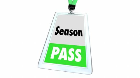 Season Pass Full Admission Ticket Badge 3d Animation
