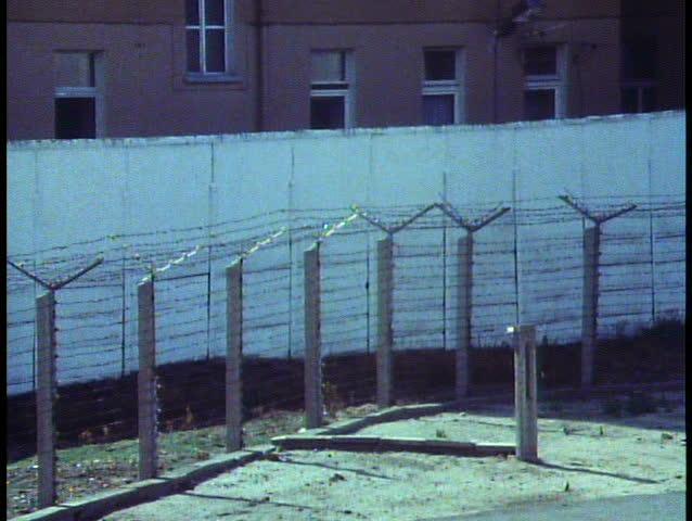 WEST BERLIN, WEST GERMANY, 1988, The Berlin Wall the last year it stood, the DMZ