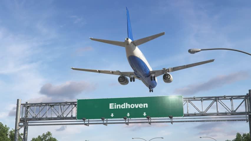 Airplane Landing Eindhoven