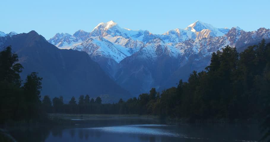 Lake Matherson, Mount Cook and Tasman. Sunrise New Zealand #1015226044