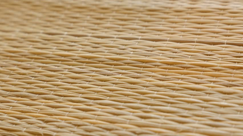 Shallow DOF rug made of dried cattail Typha plant 4K  video