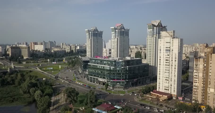 Aerial view of Kiev, Ukraine | Shutterstock HD Video #1015297354
