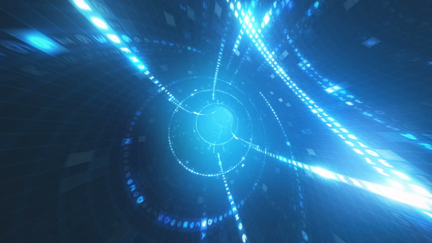 Hexadecimal code data tunnel | Shutterstock HD Video #1015309384
