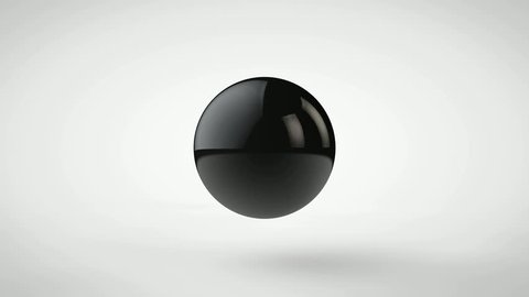3D animation of the merge balls, drops of oil in a single bowl, a sphere, a big drop.